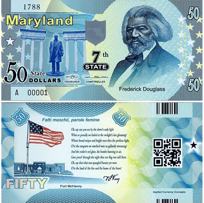 Picture of US State Dollar,7th State ,Maryland,50 State Dollars