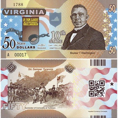 Picture of US State Dollar,10th State ,Virginia,50 State Dollars