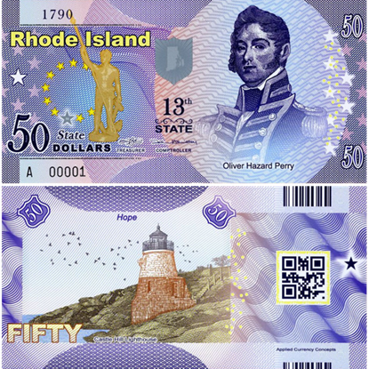 Picture of US State Dollar,13th State ,Rhode Island,50 State Dollars