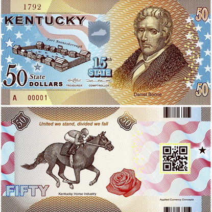 Picture of US State Dollar,15th State ,Kentucky,50 State Dollars