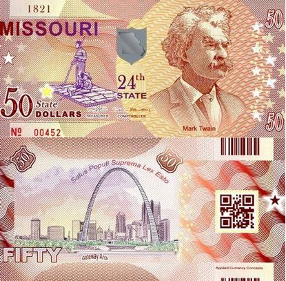 Picture of US State Dollar,24th State, Missouri,50 State Dollars