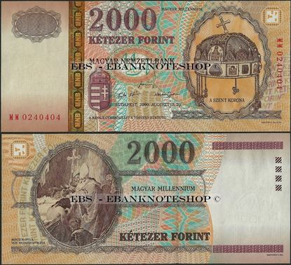 Picture of Hungary,P186,B579a,2000 Forint,2000,Comm