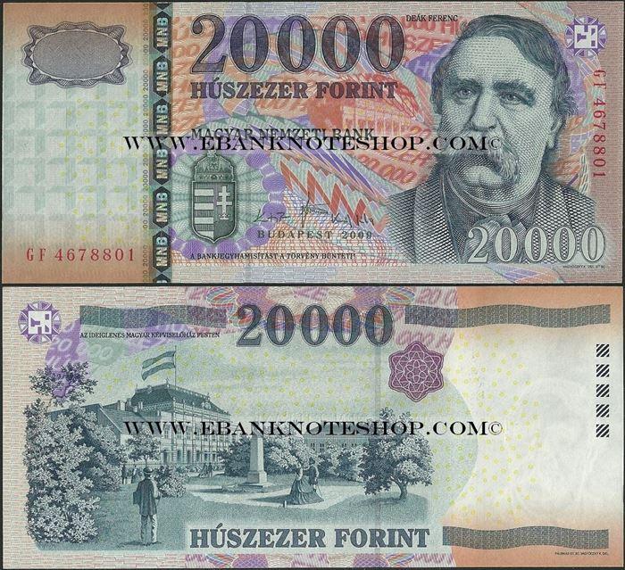 Picture of Hungary,P201b,B586b,20000 Forint,2009