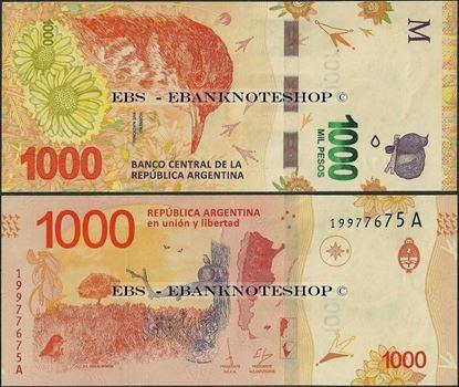 Picture of Argentina,P366,B422,1000 Pesos,2017