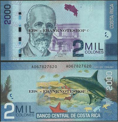 Picture of Costa Rica,P275,B558b,2000 Colones,2015