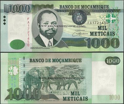 Picture of Mozambique,P148a,B233,1000 Meticais,2006