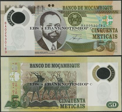 Picture of Mozambique,P150a,B235a,50 Meticais,2011