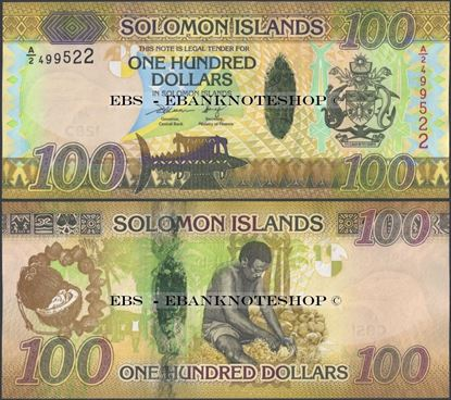 Picture of Solomon Islands,P36,B225,100 Dollars,2015,A/5