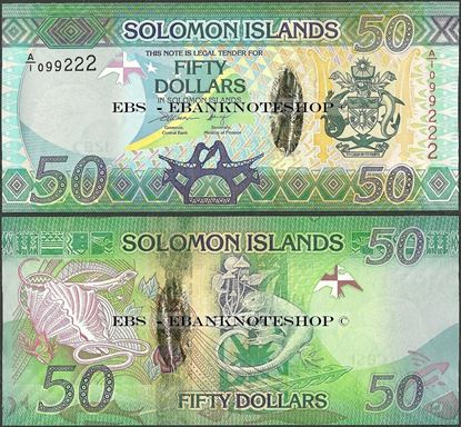 Picture of Solomon Islands,P35,B224,50 Dollars,2013,A/1