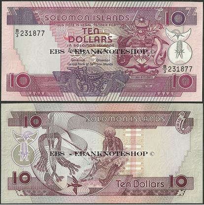 Picture of Solomon Islands,P15,B205a,10 Dollars,1986,B/3