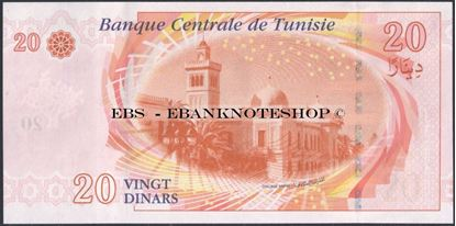 Picture of Tunisia,P93b,B533b,20 Dinars,2011