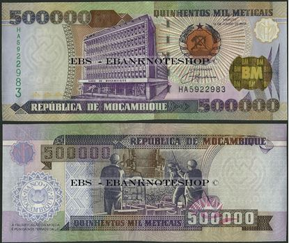 Picture of Mozambique,P142,B227,500000 Meticais,2003