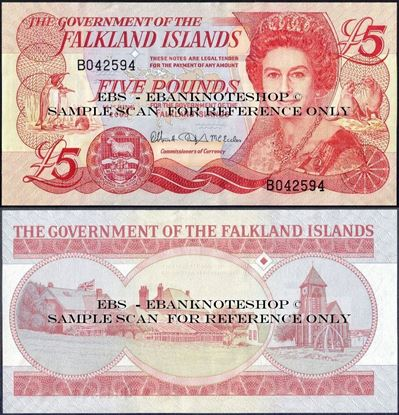 Picture of Falkland Islands,P17,B219,5 Pounds,2005