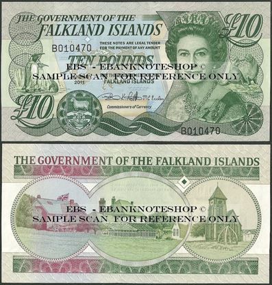 Picture of Falkland Islands,P18,B220b,10 Pounds,2011