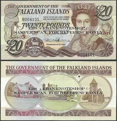 Picture of Falkland Islands,P19,B221b,20 Pounds,2011