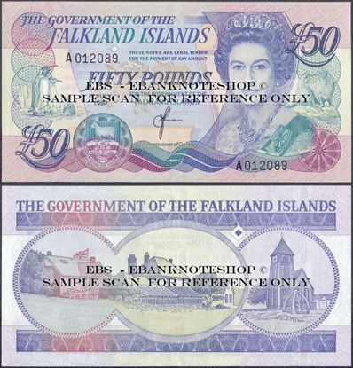 Picture of Falkland Islands,P16,B222a,50 Pounds,1990
