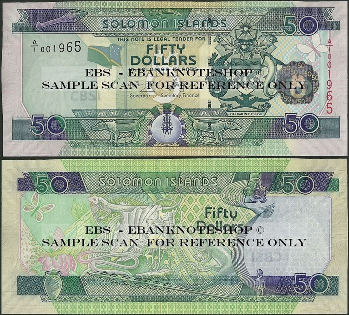 Picture of Solomon Islands,P29,B219a,50 Dollars,A/1,2007