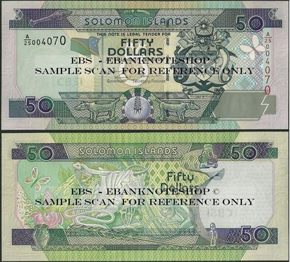Picture of Solomon Islands,P24,B212a,50 Dollars,A/25