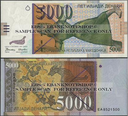 Picture of Macedonia,P19,B211,5000 Denari,1996