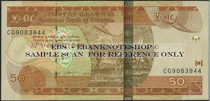 Picture of Ethiopia,P51,B333g,50 Birr,2015