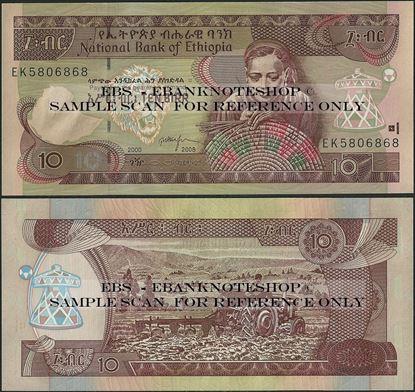 Picture of Ethiopia,P48,B332c,10 Birr,2008