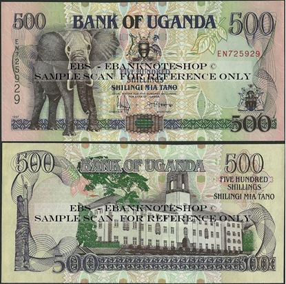Picture of Uganda,P35,B127d,500 Shillings,1997
