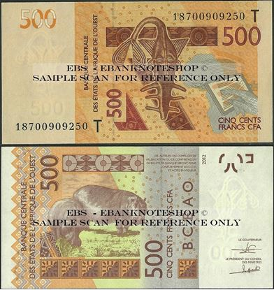 Picture of WAS T Togo,P819T, B120Tb,500 Francs,2013