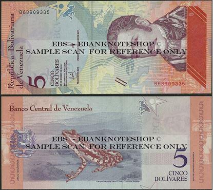 Picture of Venezuela,P102,B372a,5 Bolívar Soberano, 2018,C
