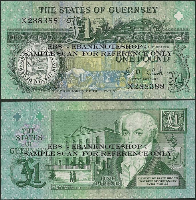 Picture of Guernsey,P52,B157c,1 Pound,2015?