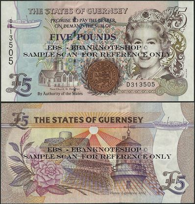 Picture of Guernsey, P56,B161c,5 Pounds
