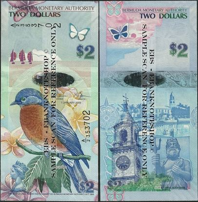 Picture of Bermuda,P57,B230c,2 Dollars,2018,A/2