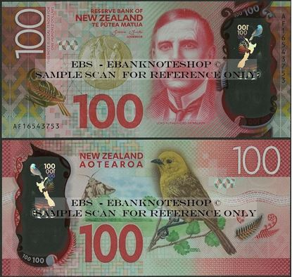 Picture of New Zealand,P195,B141,100 Dollars,2016
