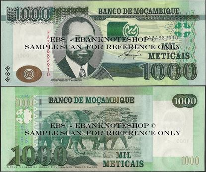 Picture of Mozambique,P154,B239a,1000 Meticais,2011