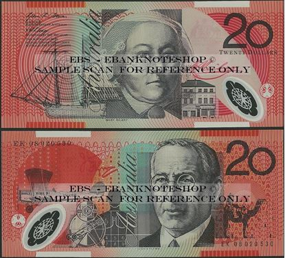 Picture of Australia,P59f,B227f,20 Dollars,2008