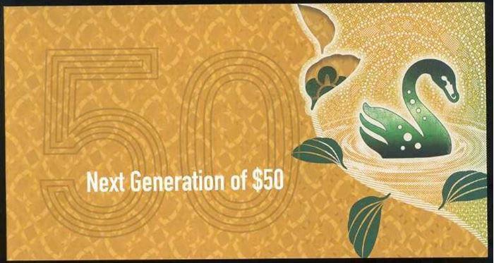 Picture of Australia,BNP215,50 Dollars,2018,folder