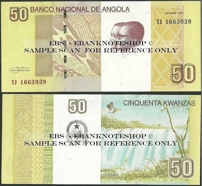 Picture of Angola,P152, B543,50 Kwanza,2012
