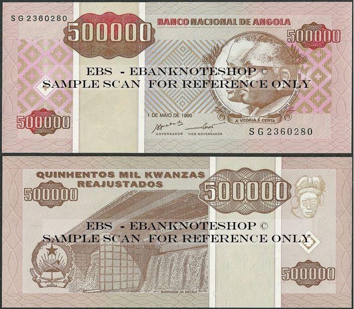 Picture of Angola,P140, B531,500 000 Kwanza Reajustados,1995