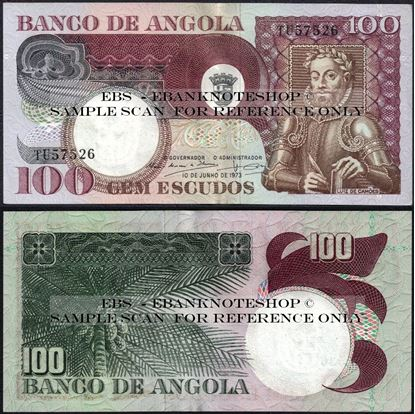 Picture of Angola,P106, B430,100 Escudos,1973,AUNC
