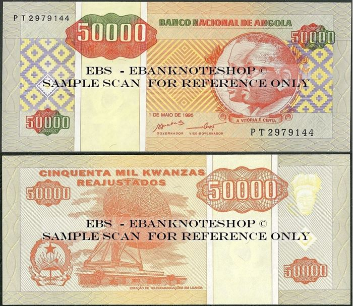 Picture of Angola,P138, B529,50000 Kwanza Reajustados,1995
