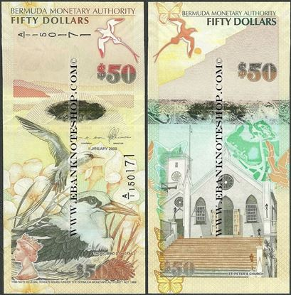 Picture of Bermuda,B236a,50 Dollars,2012,A/1 Prefix