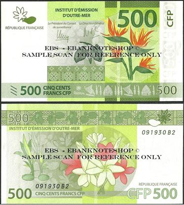 Picture of French Pacific,P5b,B105b,500 Francs,2014