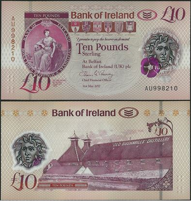 Picture of Northern Ireland,PNL,B137a,10 Pounds,2019,Bank of Ireland