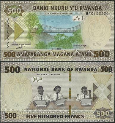 Picture of Rwanda,B141a,500 Francs,2019