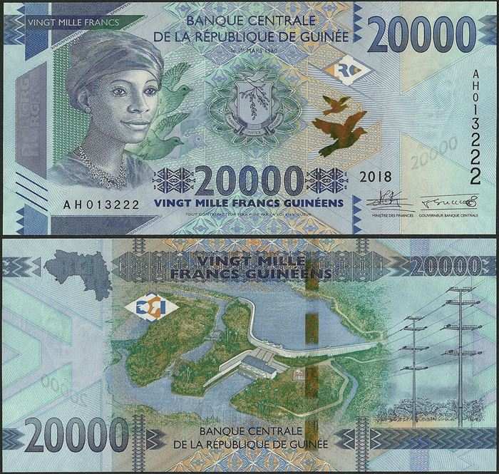 Picture of Guinea,B344a, 20000 Francs,2019