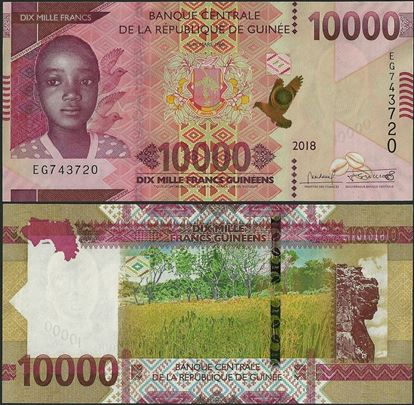 Picture of Guinea,B343,10000 Francs,2018(In 2019)