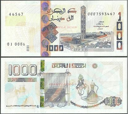 Picture of Algeria,B411,1000 Dinars,2018