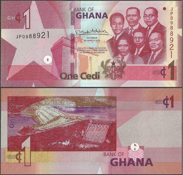 Picture of Ghana,B155,1 Cedi,2019