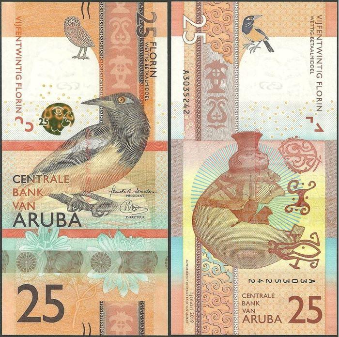 Picture of Aruba,B122,25 Florin,2019
