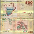 Picture of Burundi,B236b,500 Francs,2018
