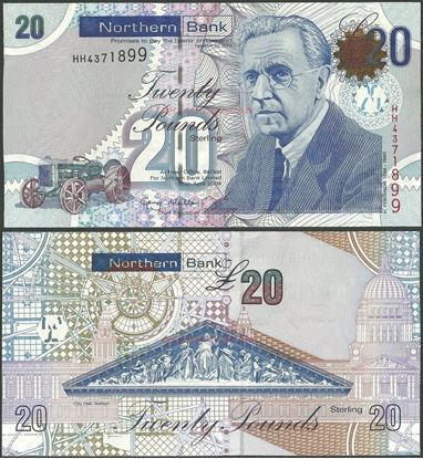 Picture of Northern Ireland,P211,B439a,20 Pounds,2009,Northern
